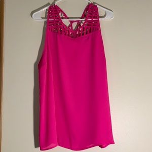 Pink cage tank top